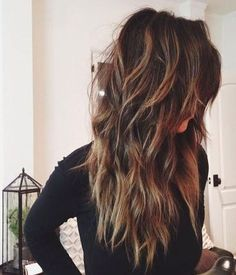 Stylish Long Hair Style - Balayage Long Hairstyles for Thick Hair