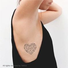 Heart Temporary Tattoo temporary tattoo T296 by TatiToo, $5.99