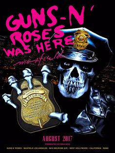 Maxfield LA Guns N' Roses Pop Up Shop Store Celebrating the anniversary of Appetite for Destruction Rock N Roll, Classic Rock And Roll, Guns N Roses, West Hollywood California, Rock Band Posters, Concert Posters, Music Posters, Tour Posters, Axl Rose