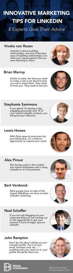8 Ways to Better Market Yourself on #LinkedIn in 2015 via BrianHonigman.com