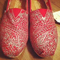Painted toms //silver detail. I might try Toms for something like this.
