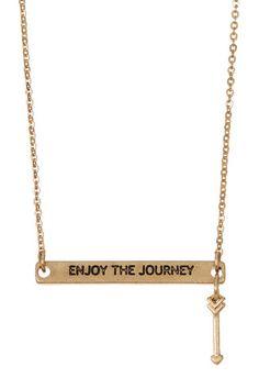 Enjoy The Journey Arrow Necklace