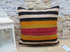 otantic pillow / naturel kilim pillow / handwoven pillow / throw pillow / anatolian pillow / unique pillow / 16x16 pillow cover / code 7622 Patio Pillows, Rustic Pillows, Bohemian Pillows, Cushions On Sofa, Aztec Pillows, Kilim Pillows, Throw Pillows, Sofa Pillow Covers, Hand Weaving