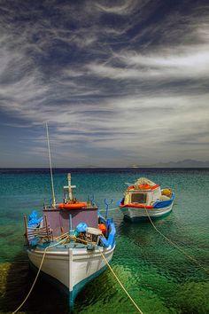 Fishing boats in Kos, Greece