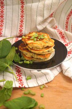 Spinat-Ricotta-Pancakes