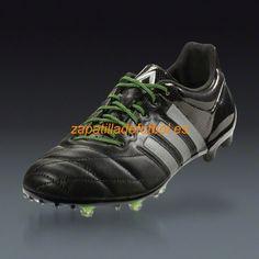 the latest 0c8c5 77cd8 ... Barato Zapatos de Soccer Adidas Ace 15.1 FG AG Negro Metalico De Plata  Amarillo Solar ...