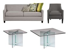 Rent the Greyson with Glass on Glass Living Room