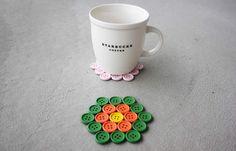 Descanso fofo para copos feito com botões | Revista Artesanato