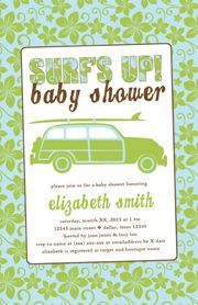 My design for a vintage surf baby shower (of 3). #MoxieStudio