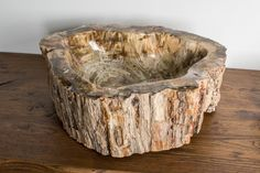 Раковина из ископаемого дерева