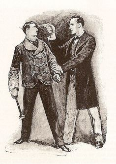 A Sherlock Holmes adventure with the detective brandishing a pistol.