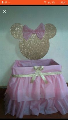 Ideas For Birthday Girl Decorations Ideas Minnie Mouse Minnie Mouse Decorations, Minnie Mouse Theme, Birthday Party Decorations, Baby Shower Decorations, Minnie Birthday, Girl Birthday, Pink Und Gold, Mickey Mouse Baby Shower, Mickey Party