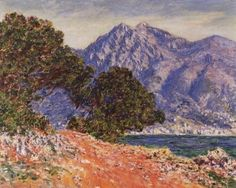 """oil painting on canvas,""""cap martin"""",by Claude Monet"""