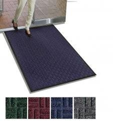 Gatekeeper Premium High Traffic Indoor Outdoor Entrance Mat Navy Blue 2' X 3' by Apache Mills. $59.27. Attractive parquet pattern, reinforced with SBR rubber to provide a crush-resistant scraping surface. Raised rubber border traps dirt and water below shoe levels and away from indoor floors. Tufted Olefin carpet resists fading and provides excellent water absorption. Gripper backing minimizes movement. Easy to clean - vacuum or hose off.. Save 11% Off!