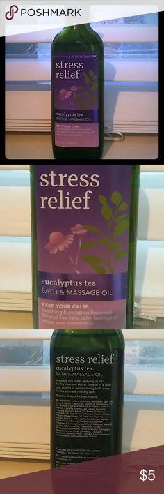 Eucalyptus tea bath & massage oil. Aromatherapy. Keep your calm. Soothing eucalyptus essential oil and tea help calm feeling of stress and I uncertainty. Bath & BodyWorks Other