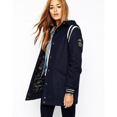 Coat by Diesel Warm wool blend fabric Quilted Lining Hooded neckline Press stud placket through front Twin slanted pockets to front Contrast panels to shoulder…