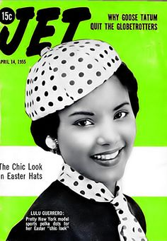 Lulu Guerrero Wears the Chic Look in Easter Hats - Jet Magazine, April 14, 1955