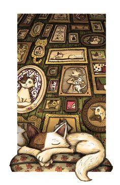 Cat Nap by Hannah Tuohy, via Behance