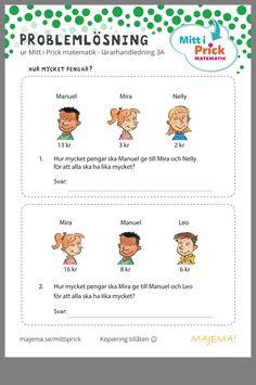 Learn Swedish, Swedish Language, Math Word Problems, Problem Solving, Preschool, Teaching, Fun, Kids, Ideas