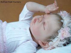 reborn baby doll created Andrea at Birds Nest nursery Portugal