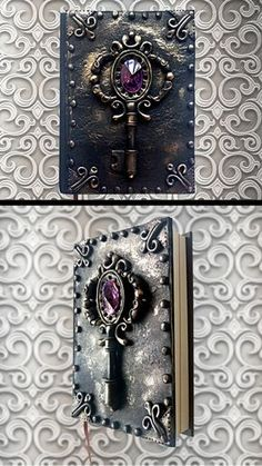 Hey, I found this really awesome Etsy listing at https://www.etsy.com/listing/278833844/black-handmade-notebook-polymer-clay