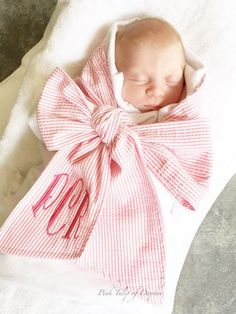 Receiving Blanket Vs Swaddling Blanket Interesting Bow Swaddle Baby Blanket In Pink Or Blue#mudpie Design Decoration