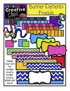 HUGE FREEBIE! Design a Banner {Creative Clips Digital Clipart}