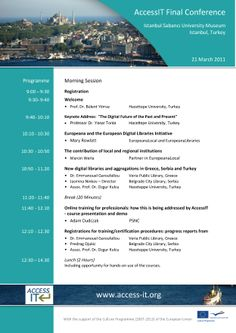 AccessIT Conference programme - page 1