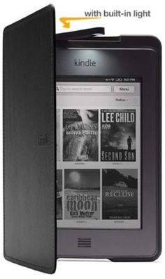Amazon Kindle Touch Lighted Leather Cover, Black (does not fit Kindle Paperwhite)