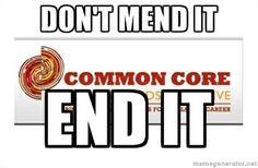 Common Core: End It, Don't mend it.