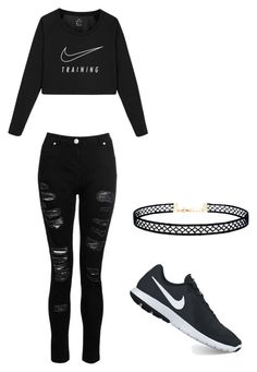 """""""New girl in Young Justice"""" by familybuisness2y5 on Polyvore featuring NIKE, Dorothy Perkins and LULUS"""