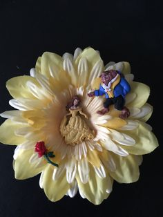 Beauty and the Beast hair flower
