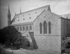 Old St Michaels church, before the fire which left only the bell tower intact, Dunlaoghaire (Kingstown) Co Dublin Ireland. St Micheal, Michael Church, Dublin City, Photo Engraving, Dublin Ireland, Old Photos, Taj Mahal, Past, Irish
