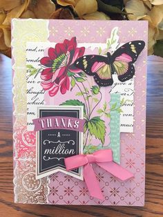 Anna Griffin Charming Topper Thank You Card by Kaye K. Lystad KIrk