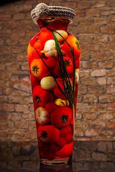 Sarabella Tuscan Art, Tomatoes Mushrooms and Garlic