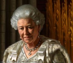 A new official portrait of Her Majesty The Queen, painted by Australian-born, London-based artist Ralph Heimans shows the monarch looking deep in reflection
