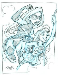 Ms. Marvel and Supergirl by tombancroft.deviantart.com on @deviantART