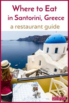 Your guide to finding the best Greek food and restaurants in Santorini that have both superb eats and unforgettable views. Where to eat in Oia, Santorini, Greece Greece Cruise, Greece Honeymoon, Greece Vacation, Greece Travel, Greece Trip, Santorini Honeymoon, Athens Greece, Vacation Travel, Vacations