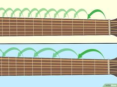 How to Learn Guitar Scales (with Pictures) - wikiHow Fender Bass Guitar, Guitar Riffs, Guitar Chords, Acoustic Guitar, Online Guitar Lessons, Bass Guitar Lessons, Music Lessons, Learn Guitar Beginner, Guitar For Beginners