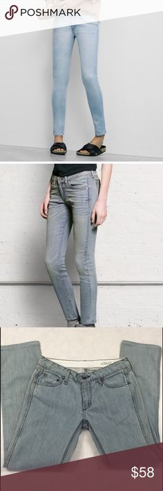 Rag & Bone Jeans Perfect condition! Light blue wash with a tint of grey. Make an offer🙌 rag & bone Jeans Ankle & Cropped