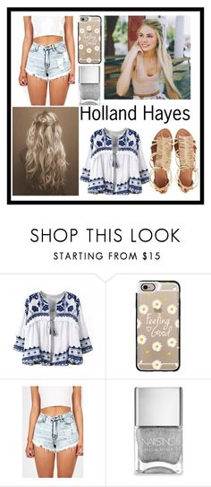 """""""Holland's Hope"""" by reese-wattpad ❤ liked on Polyvore featuring Casetify, Nails Inc. and Visconti & du Réau"""