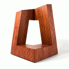 OMA's CCTV building reconstructed  as a wooden cabinet