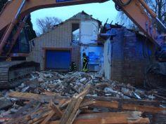 Keukenbrand bij sloopwerkzaamheden Mijnsheerenland  Foto's Ferry Krauweel