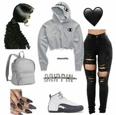 Bad Girl Outfits, Baddie Outfits Casual, Swag Outfits For Girls, Teenage Girl Outfits, Cute Swag Outfits, Cute Comfy Outfits, Chill Outfits, Girls Fashion Clothes, Teen Fashion Outfits