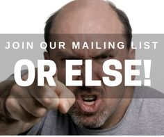 Want social media news and tips direct to your inbox? Join our mailing list. Or else... (Or else you'll miss out on the news and tips obviously!).