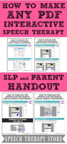 How to Turn Any PDF Interactive for Remote Digital Speech Teletherapy - Speech Therapy Store