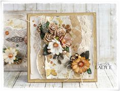 Scrap Art by Lady E: 2 Earth Tone Cards With Metal Embellishments - Wild Orchid Crafts - Video Tutorial
