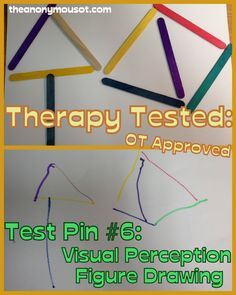 Intervention drawing activity for Visual perception figure drawing which tests visual closure, form constancy, visual spatial relations, visual discrimination, and visual memory task. Visual Motor Activities, Visual Perceptual Activities, Work Activities, Classroom Activities, Physical Activities, Classroom Ideas, Perception, Occupational Therapy Activities, Occupational Therapist