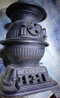 Antique pot belly stove