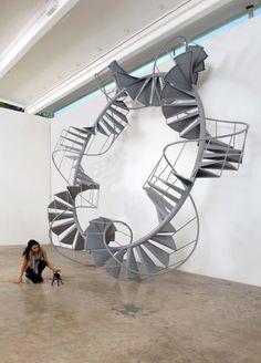 Spiral staircase art